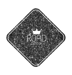 Set of road blank retro vintage badges and labels vector image