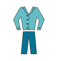 shirt pants clothes icon image vector image