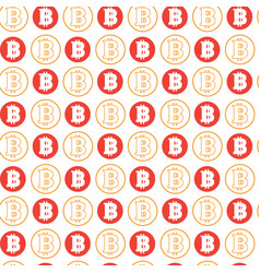 simple seamless pattern bitcoins signs on white vector image