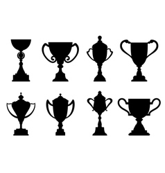 Sport trophies and awards vector