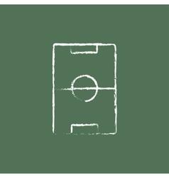 Stadium layout icon drawn in chalk vector
