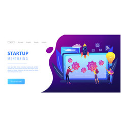 startup accelerator concept landing page vector image
