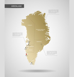 Stylized greenland map vector