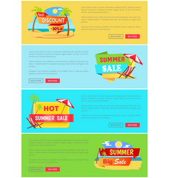 Summer sale website collection vector