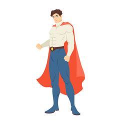 superman or superhero handsome man with muscular vector image