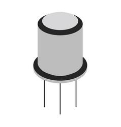 Transistor cartoon icon vector