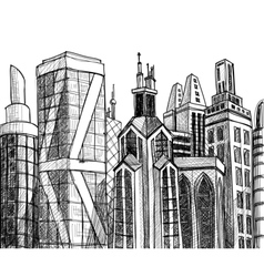 Urban buildings vector image
