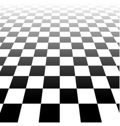 Vanishing checkered surface 3d surface in vector