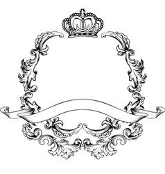 vintage aluminum frame vector image vector image