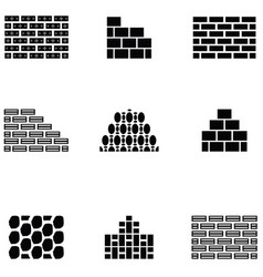 wall icon set vector image
