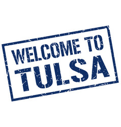 Welcome to tulsa stamp vector