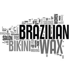 where can i get a brazilian wax text word cloud vector image
