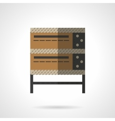 Bakery oven flat color design icon vector image vector image