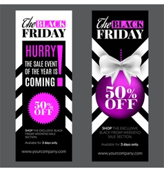 Black friday and cyber monday sale vector image