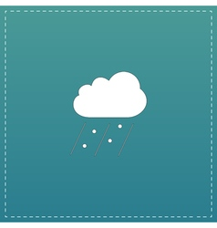 cloud it is raining and hail vector image