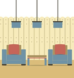 Empty Two Sofas With Ceiling Lamps vector image vector image