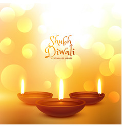 happy diwali hindu festival beautiful background vector image vector image
