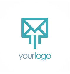 mail message logo vector image