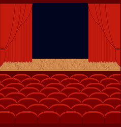 a theater stage vector image