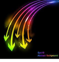 abstract bright background with arrows vector image