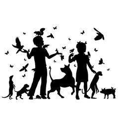 Animal children vector image vector image