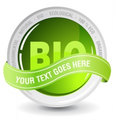 ecology bio sign vector image vector image