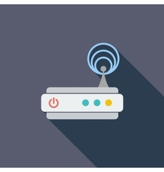 Router single icon vector image