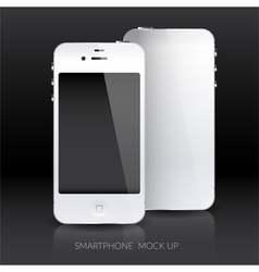 White smartphone mock up vector image vector image