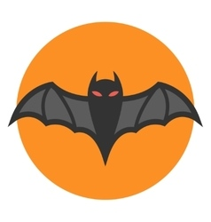 Bat icon flat vector image