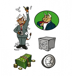 finance collection vector image