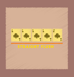Flat shading style icon straight flush vector