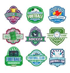 icons for soccer club football league team vector image vector image