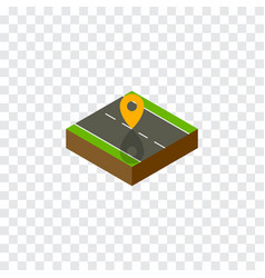 Isolated location isometric navigation vector