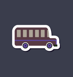 Paper sticker on stylish background bus vector