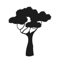 Silhouette tree african plant design image vector