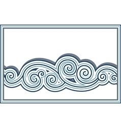 Wave border vector image vector image