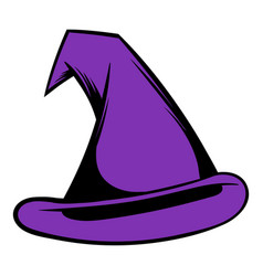 witch hat icon cartoon vector image vector image