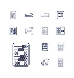 13 calculator icons vector