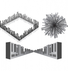 3d cityscape vector