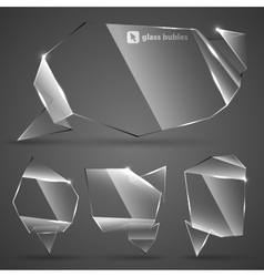 Abstract glass bubbles for speech vector image