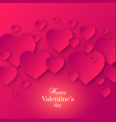 abstract valentines day pink color background vector image