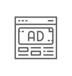 Ad advertisement media marketing line icon vector