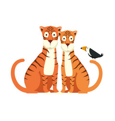 African tigers couple characters vector