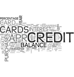 apr credit cards you can find text word cloud vector image vector image