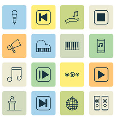 Audio icons set collection of octave bullhorn vector