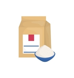 Baking powder bag vector