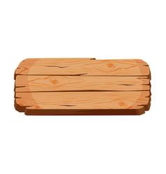 Blank wooden signboard rectangular shape wood vector