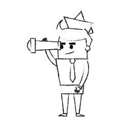 blurred silhouette image full body cartoon man vector image