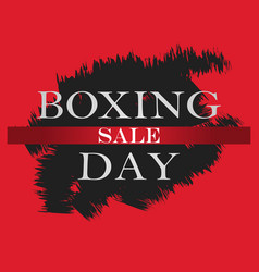 boxing day sale banner boxing day design template vector image