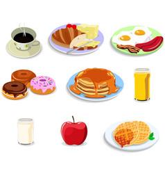 Breakfast food icons vector